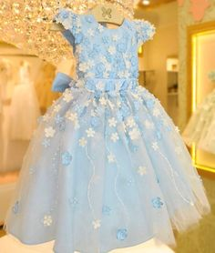 Little Girl Dresses, Girls Dresses, Formal Dresses, Dress Girl, Baby Girl Boutique, Alice In Wonderland Party, China Fashion, Ball Gowns, Cinderella