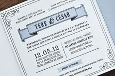 1920s Inspired Letterpress Wedding Invitations by Tere Hinojosa Creative via Oh So Beautiful Paper (5)