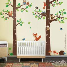 Die 148 besten Bilder von Kinderzimmer Motiv Wald | Collage, Doors ...