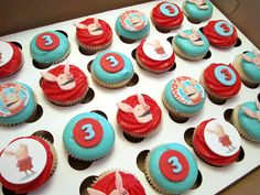 Olivia the Pig Birthday Cupcakes by Cutie Cakes WY, via Flickr