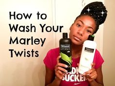How to Wash Marley Twists, Braids, and Faux Locs | Easy! - YouTube