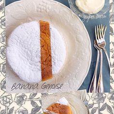 坂田阿希子さんの焼き菓子の本を見て作ってみたかったバナナジェノワーズを焼きました。ネーミングがなんだか魅力的で…。 このケーキには人気のヨーグルトクリームがきっと合うはず♪… さわやかでなんだかコクがあって確かにペロペロしちゃいます♡ ふわっと軽いバナナケーキにもぴったりで美味しかったです。ステキなレシピをありがとうございます♡( ᵕ̤ૢᴗᵕ̤ૢ )♡  久しぶりにたくさん食べ友呼んじゃいますね♪お忙しいかな? - 193件のもぐもぐ - バナナケーキ♡btnonさんのヨーグルトクリームを添えて… by ruban2