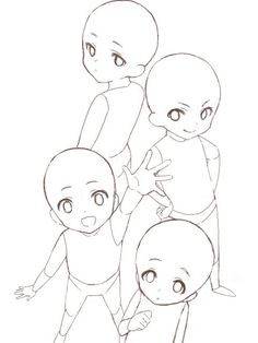 draw the squad chibi Drawing Base, Manga Drawing, Figure Drawing, Base Anime, Anime Group Base, Art Sketches, Art Drawings, Drawing Body Poses, Poses References