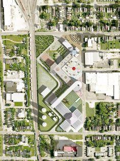 OMA Designs Food Port for West Louisville. Image © OMA #Urbandesign