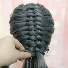 Hairdo For Long Hair, Bun Hairstyles For Long Hair, Pretty Hairstyles, Braided Hairstyles, Hair Up Styles, Medium Hair Styles, Hair Style Vedio, Hair Videos, Hair Designs