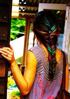 Colorful Rainbow Dip Dye Hair Chalk - Hair - Hippie: Hair Color Chalk by Judy Karr
