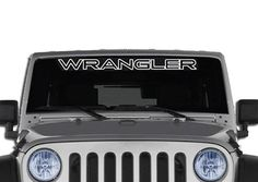 Wrangler Jeep Outline Windshield Decal Banner
