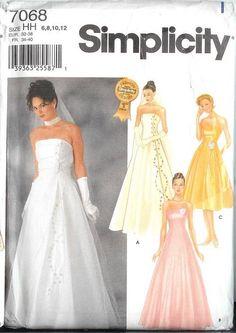 Royal wedding bridesmaid bridal formal gown dress sewing pattern ...