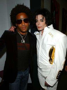 Lenny Kravitz and Michael Jackson.