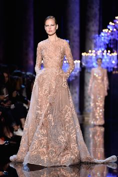 The Best Looks From the Fall 2015 Couture Runways  - ELLE.com - Elie Saab