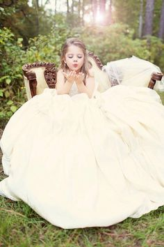 Daughter in moms wedding dress