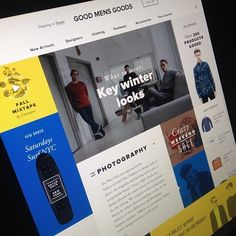 Good Mens Goods by Great Simple, via Behance