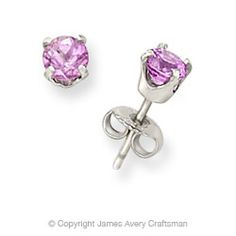 Pink Sapphire Ear Posts from James Avery Jewelry.