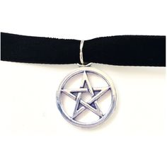 Pentacle Choker ($5) ❤ liked on Polyvore featuring jewelry, necklaces, adjustable cord necklace, pendant choker, stretch tattoo choker, tattoo necklace and stretch choker
