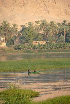 Agua, verde y fluidez, las claves del desarrollo de la civilización egipcia..EGIPTO
