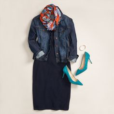 Subtly add moody florals into your fall wardrobe with a lightweight infinity…