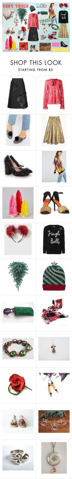 Tinsel by kikisan-studio on Polyvore featuring ASOS, Scanlan Theodore, George, Topshop, Lela Rose, Boutique Moschino, Charlotte Olympia and Skinnydip