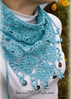 Patrones Crochet: 2 Bandanas de Crochet Persas con Tutorial