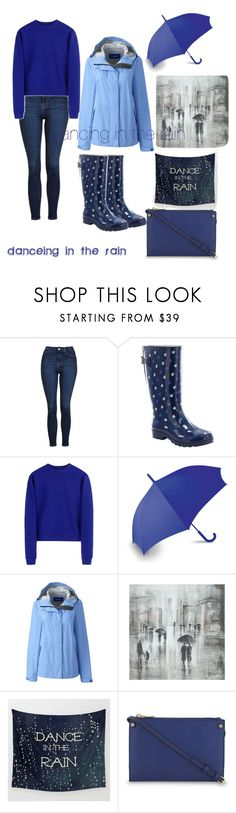 """dancing in the rain 🌂"" by salypimienta on Polyvore featuring Topshop, Western Chief, Acne Studios, LEXON, Lands' End, Leftbank Art and Sandro"