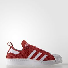 Adidas Originals 80s Superstars in Red Adidas Shoes Women ef444aa5c52
