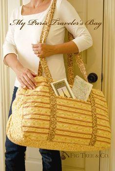 Paris Travelers Bag Pattern  http://44thstreetfabric.com