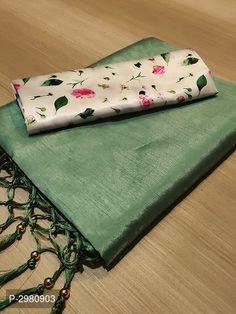 Zoya silk saree with jalar n moti/ green saree/ saree for women/ indian saree / wedding saree/ designer saree / sarees / saree blouse/ saree - - Cotton Saree Blouse Designs, Saree Blouse Patterns, Floral Blouse, Printed Blouse, Work Blouse, Sari, Plain Saree, Saree Trends, Green Saree