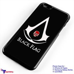 Assassins Creed 4 Black Flag Skull - Personalized iPhone 7 Case, iPhone 6/6S Plus, 5 5S SE, 7S Plus, Samsung Galaxy S5 S6 S7 S8 Case, and Other