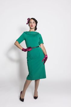 Daisy Dapper Collection Wendy Dress Teal Green