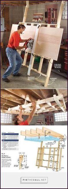 Fold-Down Cutting Rack - Popular Woodworking Magazine - Dremel Projects Ideas Woodworking Tools For Sale, Woodworking Magazine, Woodworking Workshop, Woodworking Classes, Popular Woodworking, Woodworking Furniture, Woodworking Lathe, Woodworking Machinery, Woodworking Basics