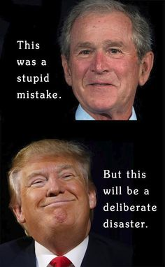 Bush had a KIND degrees different from Trump. Bush was never rude nor insulting to people. Trump is HEARTLESS. Satire, Political Views, Thing 1, Republican Party, Humor, That Way, Just In Case, Donald Trump, Presidents