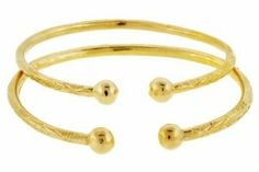 Baby Solid Sterling Silver West-Indian Bangle Set Plated with 14K Gold 42 Grams Better Jewelry. $147.00. Polished Finish. Solid Sterling Silver. Adjustable. Made in Italy