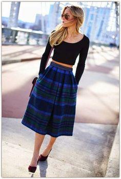 25 Trendy Midi Skirts Outfits - Pretty Designs