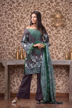 Buy Grey Satin Silk SS-147 from Gul Ahmed at an amazing price. Shop online now!