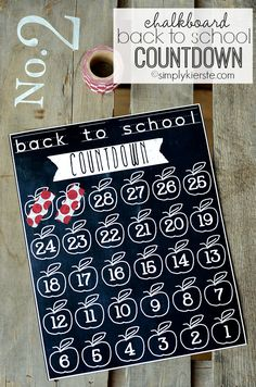 DIY chalkboard back to school countdown | simplykierste.com