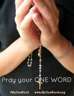 PRAY for your Word.... and pray to win the My One Word Pinterest contest! #AmazingPrizes #PinToWin