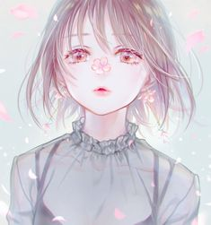 Find images and videos about art, anime and flowers on We Heart It - the app to get lost in what you love. Pretty Anime Girl, Beautiful Anime Girl, Kawaii Anime Girl, Anime Art Girl, Anime Girls, Anime Chibi, Manga Anime, Anime Eyes, Manga Drawing