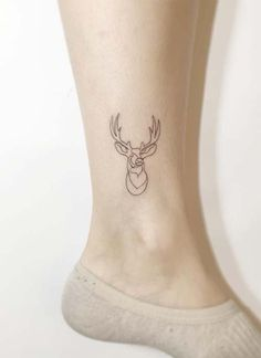 Ankle Tattoos Ideas for Women: Deer Ankle Tattoo