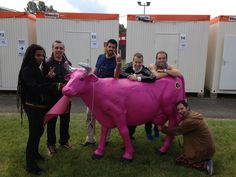 La Pegatina With the Pink Cow in PinkPop 2013