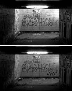 Question everything...