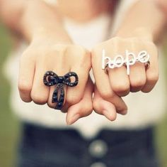 pretty bow and hope rings
