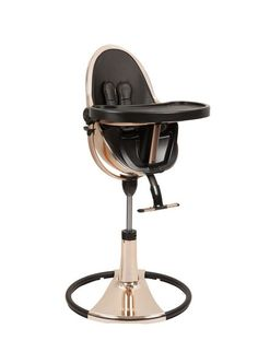 the fresco chrome special edition gold comes with a fresco chrome starter kit in midnight black. as the world's highest baby chair, fresco chrome's recline system, and easy up/down height adjustment allow baby to join the family at the dining Fresco, Cybex Platinum, Toddler High Chair, Modern High Chair, Bloom Baby, Baby Chair, Baby Gadgets, Baby Necessities, Seat Pads