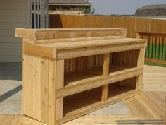 Cedar bar Farmhouse Furniture, Pallet Furniture, Outdoor Projects, Pallet Projects, Outdoor Living, Outdoor Patios, Outdoor Decor, Outdoor Fun, Patio Kitchen