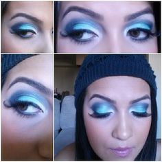 MAC blue eyeshadows
