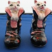 Vintage Cats in Boots Salt and Pepper Shakers