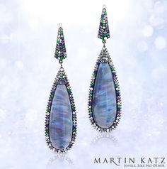 Martin Katz Jewels #diamonds #opal #earrings #luxury #MartinKatz