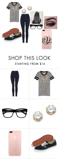 """Sam Smith songs make the day better"" by chanel-xoxo123 on Polyvore featuring Topshop, ZeroUV, Kenneth Jay Lane, Vans, Harold's, vans, greyhair, messybun, Victoriasecret and iphone7plus"