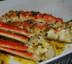 Delicious and easy to cook crab legs cooked in Flavor Wave Turbo Grill.-- crab legs are the best! Crab Dishes, Seafood Dishes, Seafood Platter, Fish Recipes, Seafood Recipes, Cooking Recipes, Recipies, Blue Crab Recipes, Bread Recipes