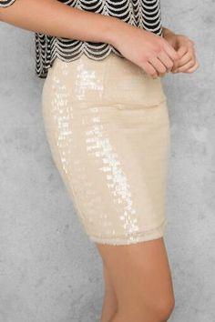 Whittier Sequin Mini Skirt
