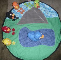 Blue Montessori Material Toys Placing Organizing Carpet Mat Boy Girl Gift S