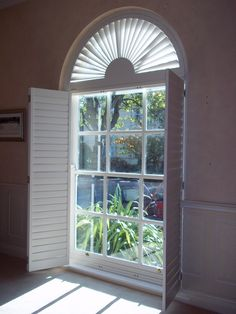 At Shutterly Fabulous we provide quality made to measure, bespoke window shutters to suit all window shapes and sizes. Wooden Window Shutters, Custom Shutters, Wooden Windows, Small Windows, Shaped Windows, Neutral Paint, Window Dressings, White Doves, Golden Oak
